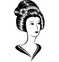 portrait a beautiful asian woman vector image