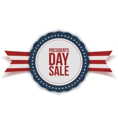 Presidents Day Sale discount Label with Ribbon vector