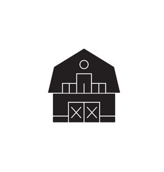 ranch house black concept icon ranch house vector image