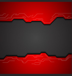 red and black tech corporate background vector image