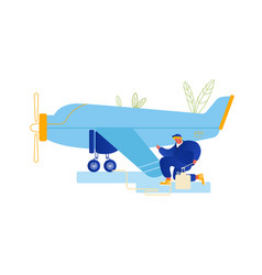 Repair and maintenance aircraft concept vector