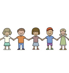 seamless group of children vector image