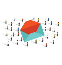 send email newsletter to the crowd marketing blast vector image