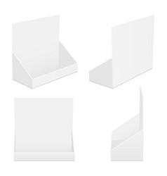 Set cardboard counter display boxes mockups vector