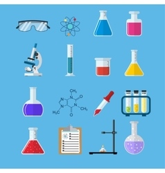 Set icon chemicals vector