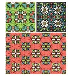 set of ten ethnic patterns vector image