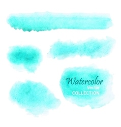 Set smooth watercolor spots in soft pastel vector