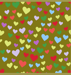 Simple heart sharp seamless pattern color vector