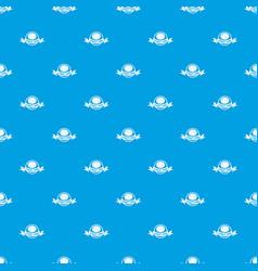 street burger pattern seamless blue vector image