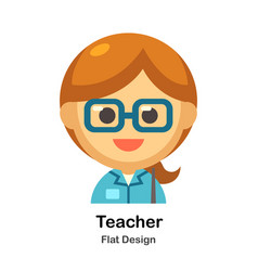 Teacher flat vector