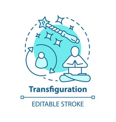 Transfiguration concept icon wizardry and sorcery vector