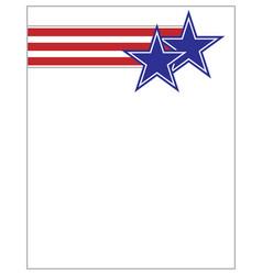 Us flag stars and stripes symbol design vector