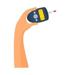Use of glucometer icon flat style vector