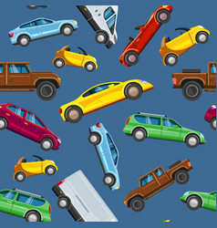 vehicle collection seamless urban vector image