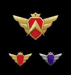 Wing emblem template vector