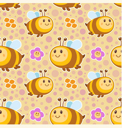 bees pattern vector image vector image