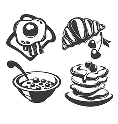 breakfast menu vector image vector image
