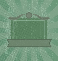 Green grunge retro background vector image