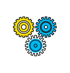 industry gears to process engineering vector image vector image