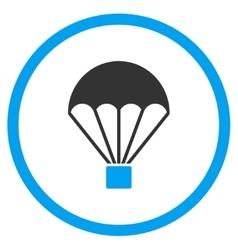Parachute Flat Icon vector image