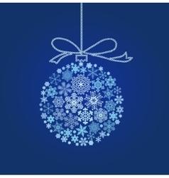 Blue Christmas ball - vector image vector image
