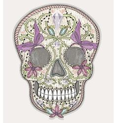 Cute mexican skull vector image vector image