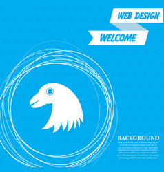 eagle icon on a blue background with abstract vector image