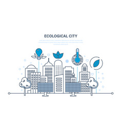 Eco-friendly technology communication progress vector