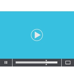 Flat player blue background eps 10 vector