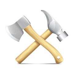 Hammer And Ax vector image vector image