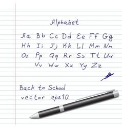 Hands Draw Alphabet vector image