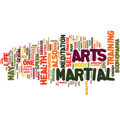 martial arts and sexual health text background vector image vector image