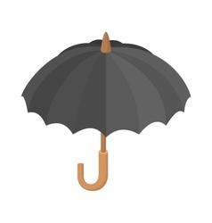 Black umbrella icon cartoon style vector