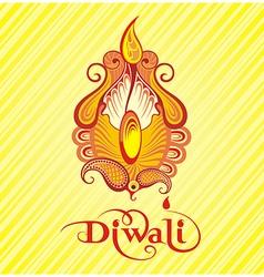 Festival of diwali celebration background vector image