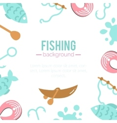 Fishing background paddles vector image