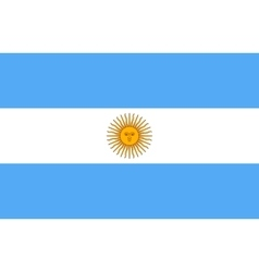 Flag of Argentina in correct proportion and colors vector image