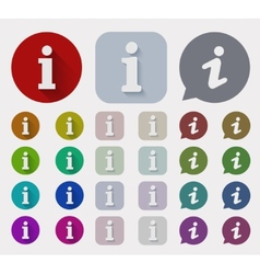 flat information sign icons set vector image