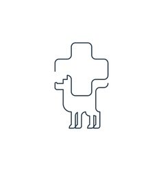 Animal health care veterinary concept vector