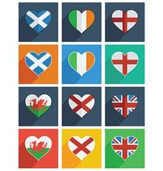 british isles and ireland icons vector image