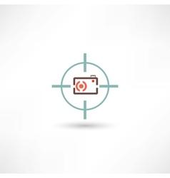 camera at gunpoint vector image