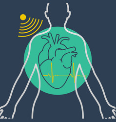 echocardiogram logo icon design vector image