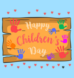 Happy childrens day style cute design vector