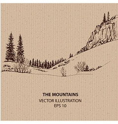 In the Mountains vector image