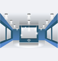 interiors exhibition hall with white frames on vector image