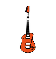 isolated guitar design vector image