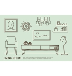 Living Room Furniture vector image