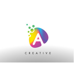 A colorful logo design shape purple abstract vector