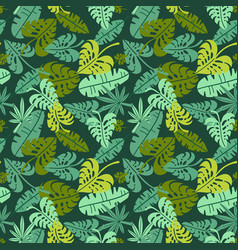 abstract jungle print with silhouettes vector image
