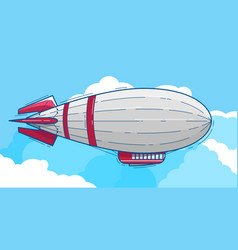 Airship with red stripes vector