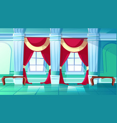 Ballroom or royal palace hall vector